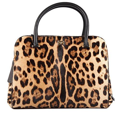 Dolce & Gabbana Womens Tote Bag in Brown Leopard Print ...